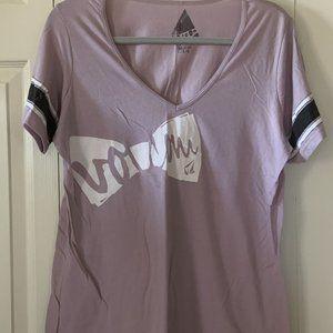 Cute Lavendar Volcom T-shirt with Bow Design